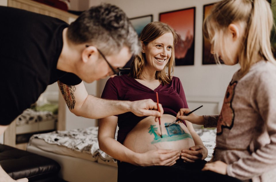 Babybauch Shooting mit Familie Pick